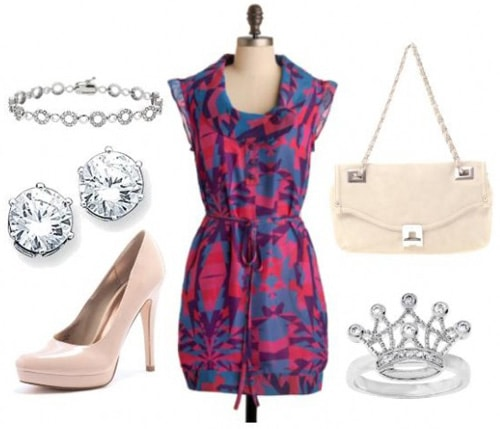 Sleeping Beauty pink and blue outfit