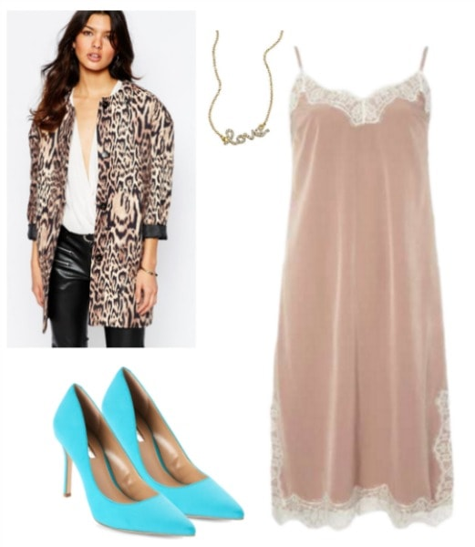 carrie bradshaw inspired slip dress outfit