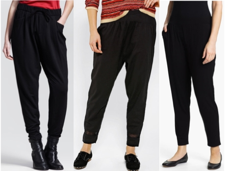 Slouchy black pants