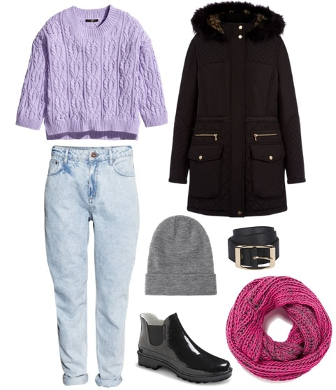 Slouchy in winter pastels