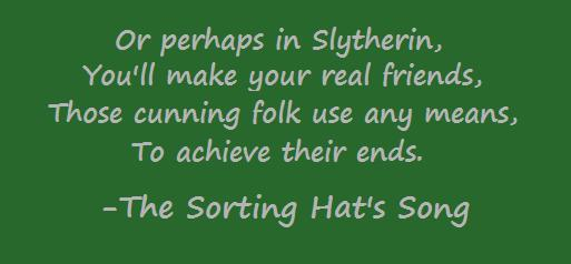 Slytherin Sorting Hat Song