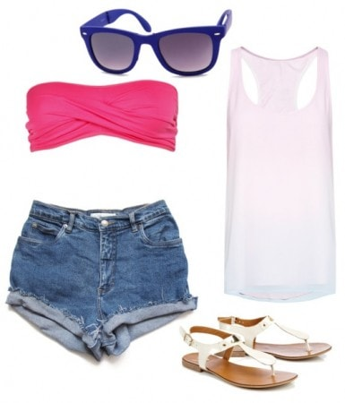 Awesome Shorts Outfit for Small Chested People