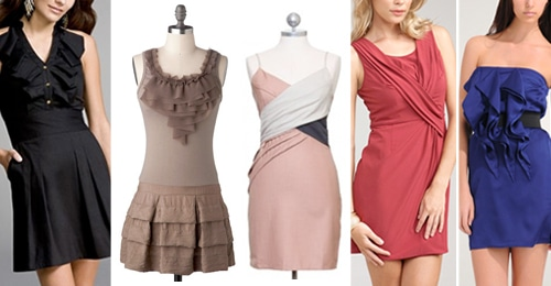 Small Bust Minidresses