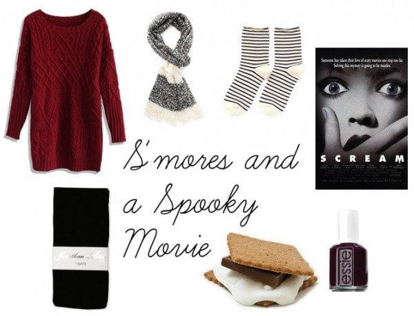 S'mores and movie night