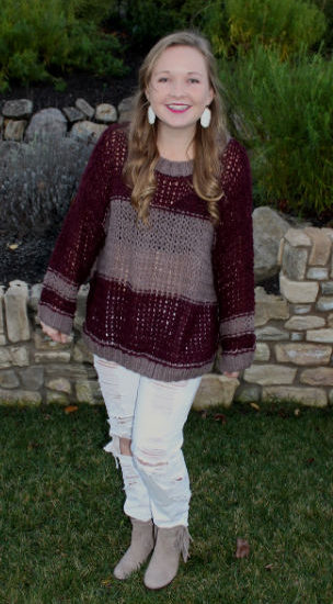 SMU street style trends - oversized sweater, ripped jeans, ankle boots