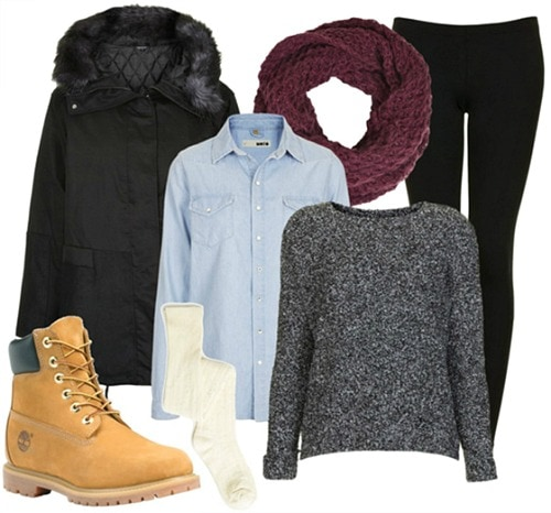 Snowy weather class outfit