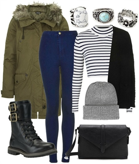 Snowy weather party outfit