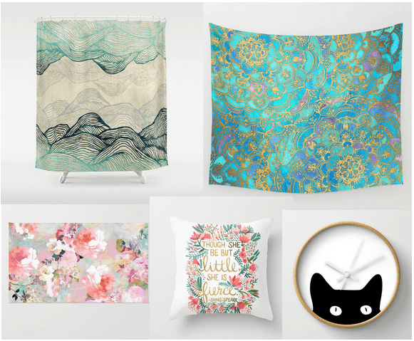 Home decor items you can buy on Society6