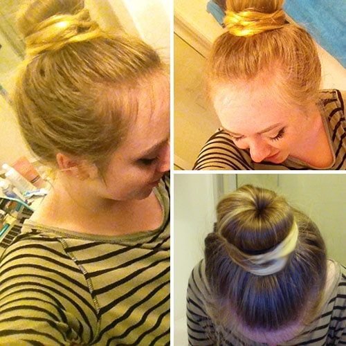 Sock bun finished product
