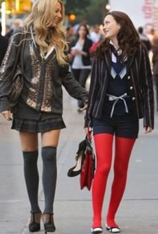 Blake Lively as Serena van der Woodson in Thigh High Socks