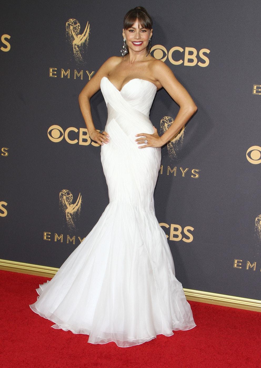 Sofia Vergara in Mark Zunino at the 2017 Emmys