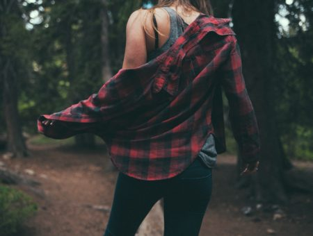 Plaid grunge outfit