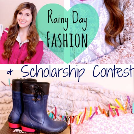 Rainy Day Fashion + SORELstyleME scholarship contest