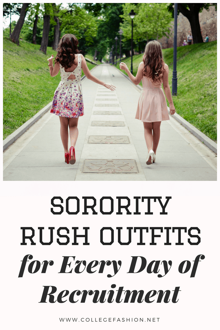 Sorority rush outfits for every day of recruitment - what to wear for sorority rush