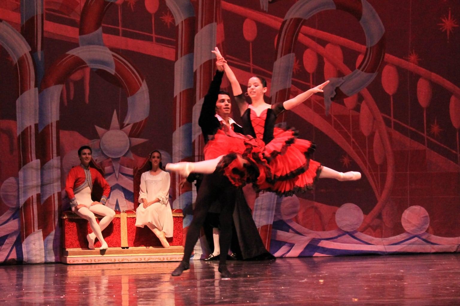 Spanish Dancers in The Nutcracker ballet