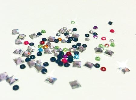 Sparkling rhinestones