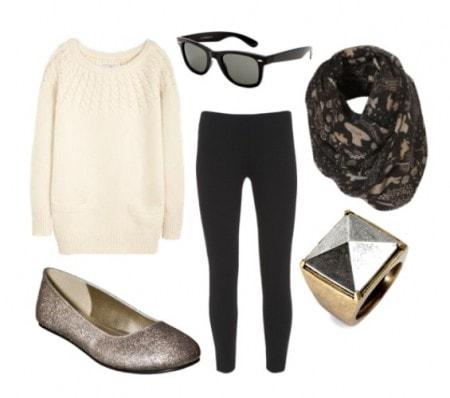 sparkly-flats-sweater-dress