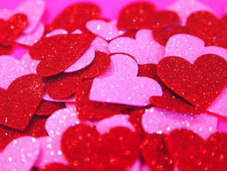 Sparkly hearts