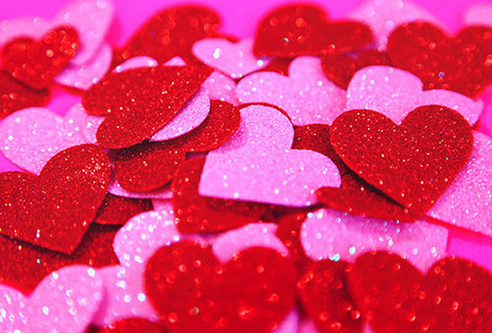 Sparkly hearts