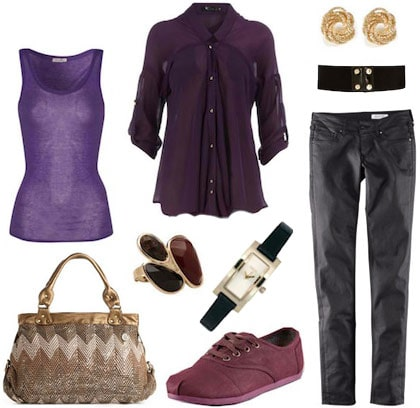 Purple outfit inspired by Spencer from Pretty Little Liars