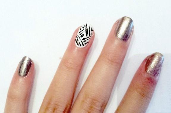Spiderweb & mummy nail art step 1