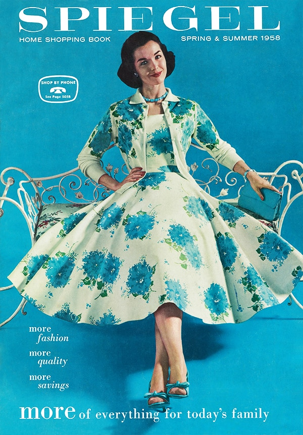 1950s fashion - spiegel catalog cover from the '50s