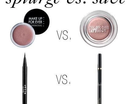 Splurge vs. Save: Eyeliner and Eyeshadow