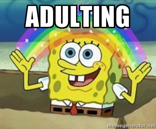 Spongebob adulting