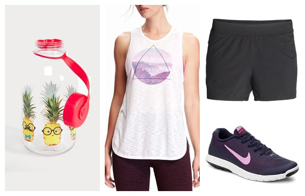 Sporty hike outfit for spring summer