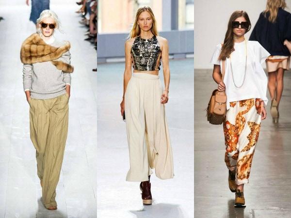 Spring 2014 wide leg pants trend