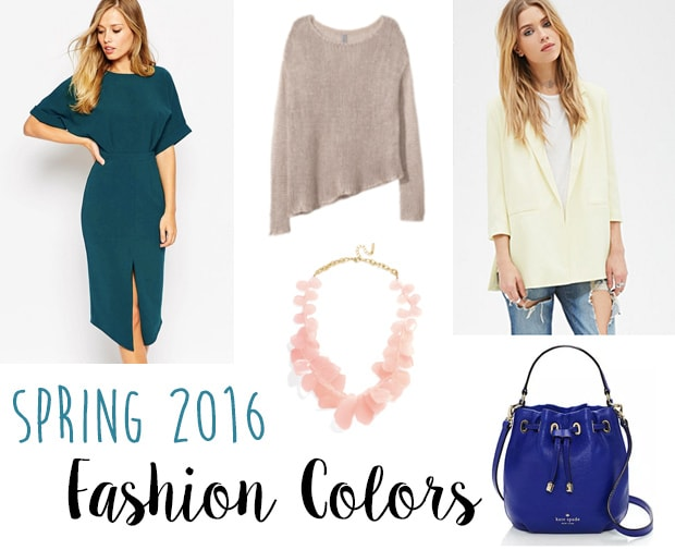 Spring 2016 fashion colors