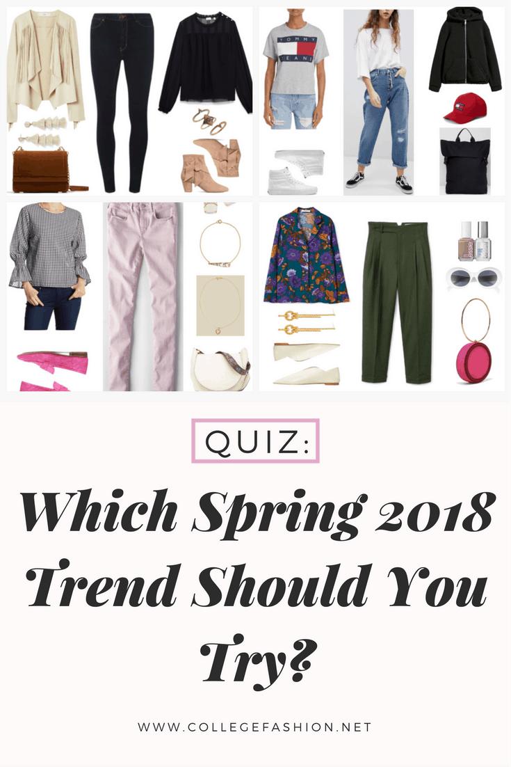 Spring 2018 trend quiz