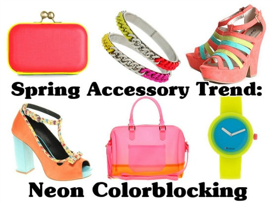 Spring Accessory Trend Neon Colorblocking