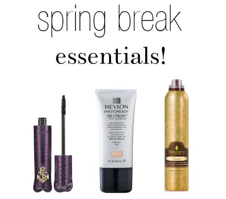 Spring break beauty travel essentials