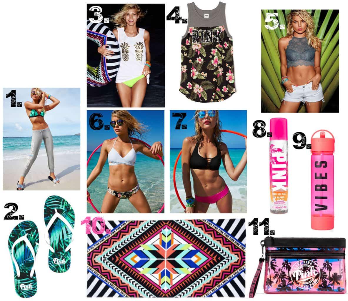 Victoria's Secret Spring Break Packing List