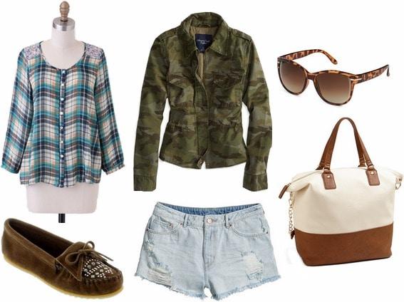 Spring break outdoor adventure outfit