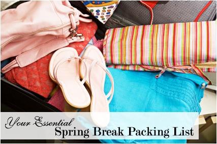 Spring break packing list