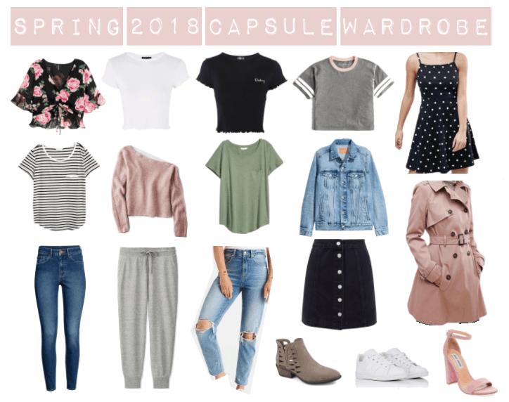 spring capsule wardrobe for college