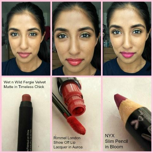 Spring makeup look lip colors