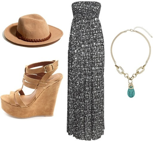 Spring maxi dress outfit