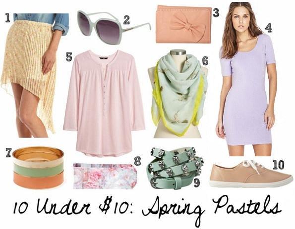 Spring pastels 10 under 10