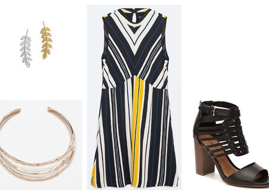 Simple striped dress spring outfit