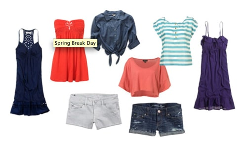 Spring break day outfits