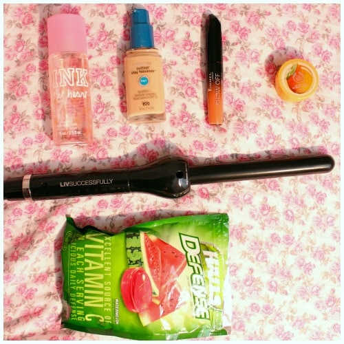 Springtime makeup hair tools and perfume