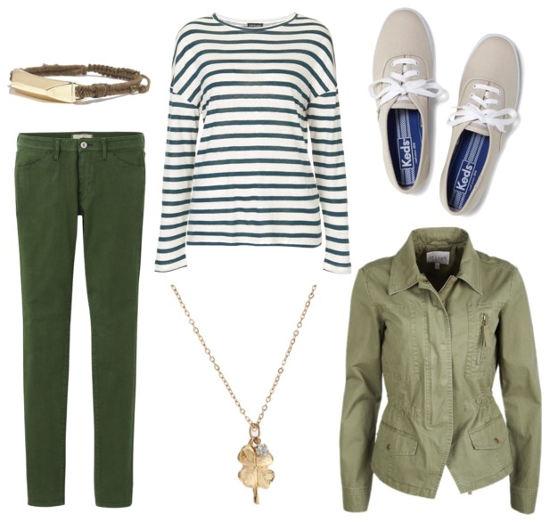 St patricks green jeans utility jacket