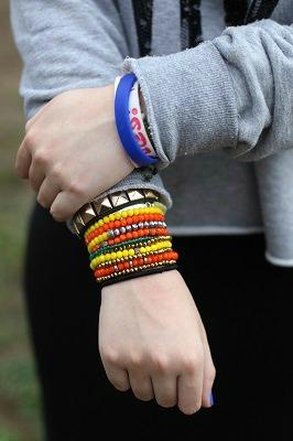 Stacked bracelets trend