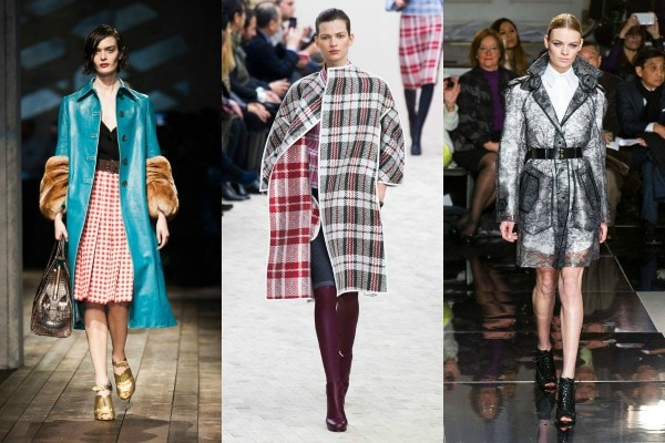 Statement coats on the fall 2013 runways