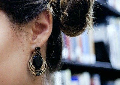 Statement earrings at risd