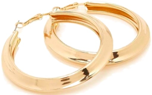 Add that last bang, with gold statement hoop earrings!