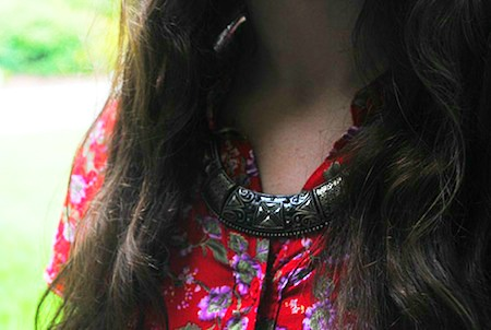 Statement necklace college style trend